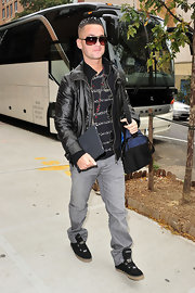 Mike sports a leather jacket after leaving the 'Wendy Williams Show'.