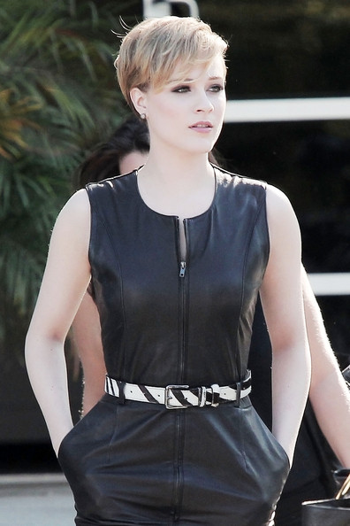 More Pics of Evan Rachel Wood Leather Dress (1 of 10) - Evan Rachel Wood Lookbook - StyleBistro