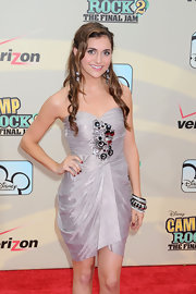 Alyson showed off her strapless embellished cocktail dress while walking the red carpet at the 'Camp Rock 2' premiere.