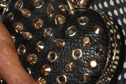 Golden Brooks Studded Clutch