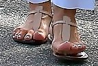 Kris Jenner Thong Sandals