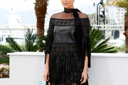 Charlize Theron Leather Dress