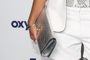 Adrienne Bailon Metallic Clutch