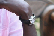 Alek Wek Leather Band Quartz Watch