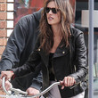 Alessandra Ambrosio Clothes - Leather Jacket