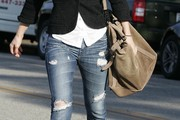 Ali Larter Suede Shoulder Bag