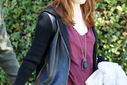 Alyson Hannigan Leather Coat
