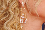 Alyson Michalka Dangling Diamond Earrings