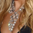 Amanda Bynes Gemstone Statement Necklace