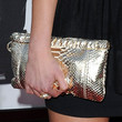 Amanda Bynes Metallic Clutch