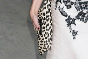 Amber Heard Printed Clutch