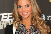 Amber Lancaster Dons Highlighted Long Curls to 'Teen Wolf' Premiere