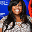 Amber Riley Hair - Long Wavy Cut with Bangs