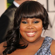 Amber Riley Hair - Medium Curls with Bangs