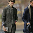 Anne Hathaway Clothes - Tweed Coat