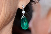 Annette Bening Dangling Gemstone Earrings
