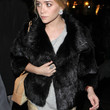 Ashley Olsen Clothes - Fur Coat