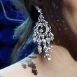 Ashlynn Brooke Crystal Chandelier Earrings