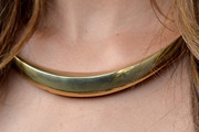 Lily Aldridge Gold Collar Necklace