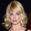Beth Behrs Hair - Medium Wavy Cut with Bangs