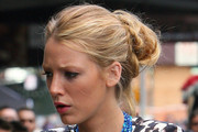 Blake Lively Loose Bun