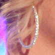 Britney Spears Diamond Hoops