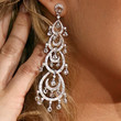 Carrie Underwood Crystal Chandelier Earrings