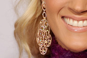 Carrie Underwood Gold Chandelier Earrings