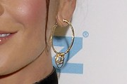 Catherine Zeta Jones Gold Hoops