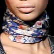 Chanel Iman Patterned Scarf