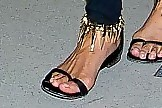 Chrissy Teigen Flat Sandals
