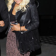 Christina Aguilera Suede Shoulder Bag