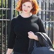 Christina Hendricks Clothes - Crewneck Sweater