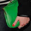 Christina Hendricks Leather Clutch