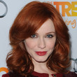 Christina Hendricks Hair - Long Side Part