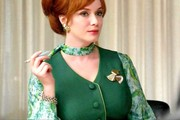 Christina Hendricks Print Blouse