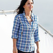 Courteney Cox Clothes - Button Down Shirt