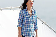 Courteney Cox Button Down Shirt