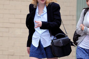 Dakota Fanning Leather Shoulder Bag