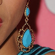 Dania Ramirez Jewelry - Dangling Gemstone Earrings