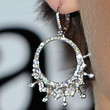 Dannii Minogue Dangling Diamond Earrings