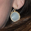 Diane Lane Gold Dangle Earrings