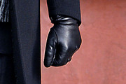 Ed Westwick Leather Gloves