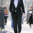 Ed Westwick Clothes - Men's Suit