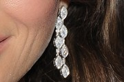 Elizabeth Hurley Dangling Diamond Earrings
