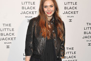 Elizabeth Olsen Leather Jacket