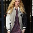 Elle Fanning Clothes - Leather Jacket