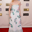 Elle Fanning Clothes - Strapless Dress