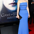 Emilia Clarke Strapless Dress