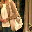 Emily VanCamp Leather Shoulder Bag